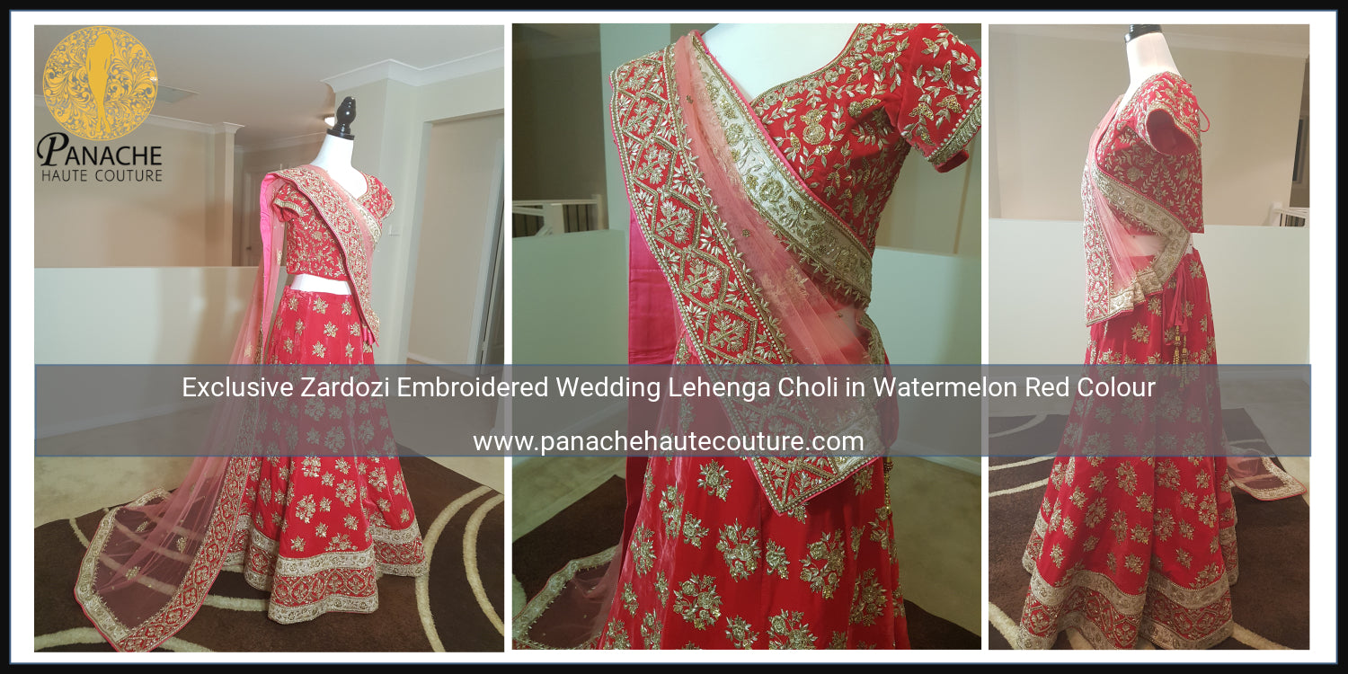 Exclusive Sabyasachi Red Lehenga