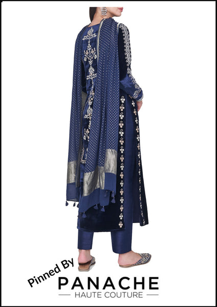 Blue Color Gotta Patti Salwar Kameez