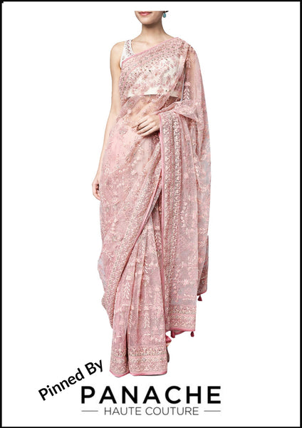 Pink Saree with Gotta Patti Blouse