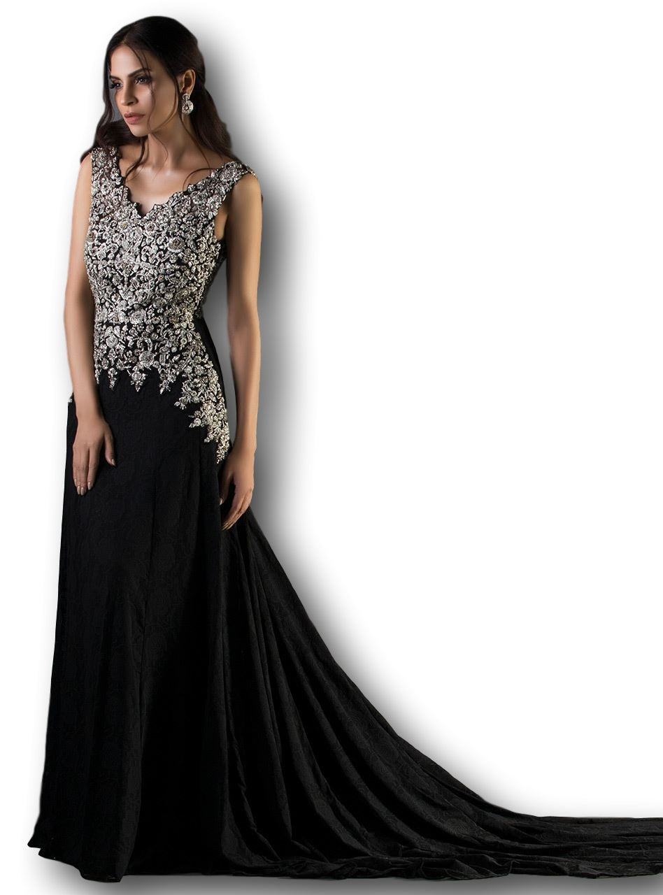 Black Color Indo Western Gown
