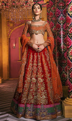 Orange Color Wedding Lehenga