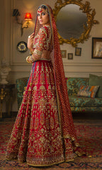 Red Color Wedding Lehenga