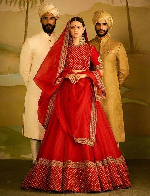 Red Color Wedding Lehenga Set