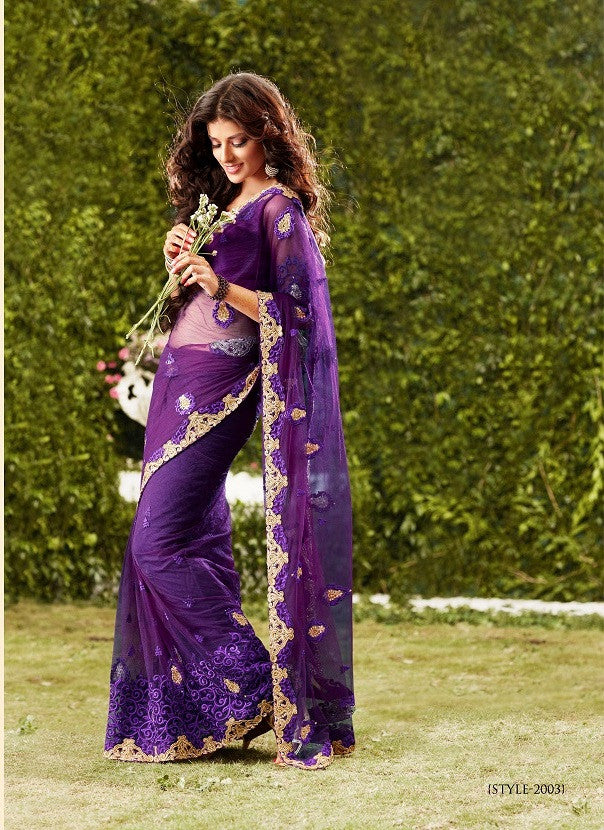 Purple color saree