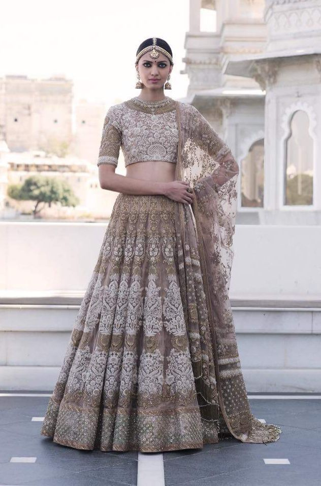 Fawn Color Wedding Lehenga