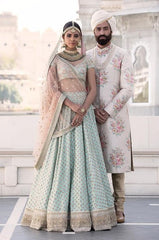 Off-White Color Wedding Lehenga