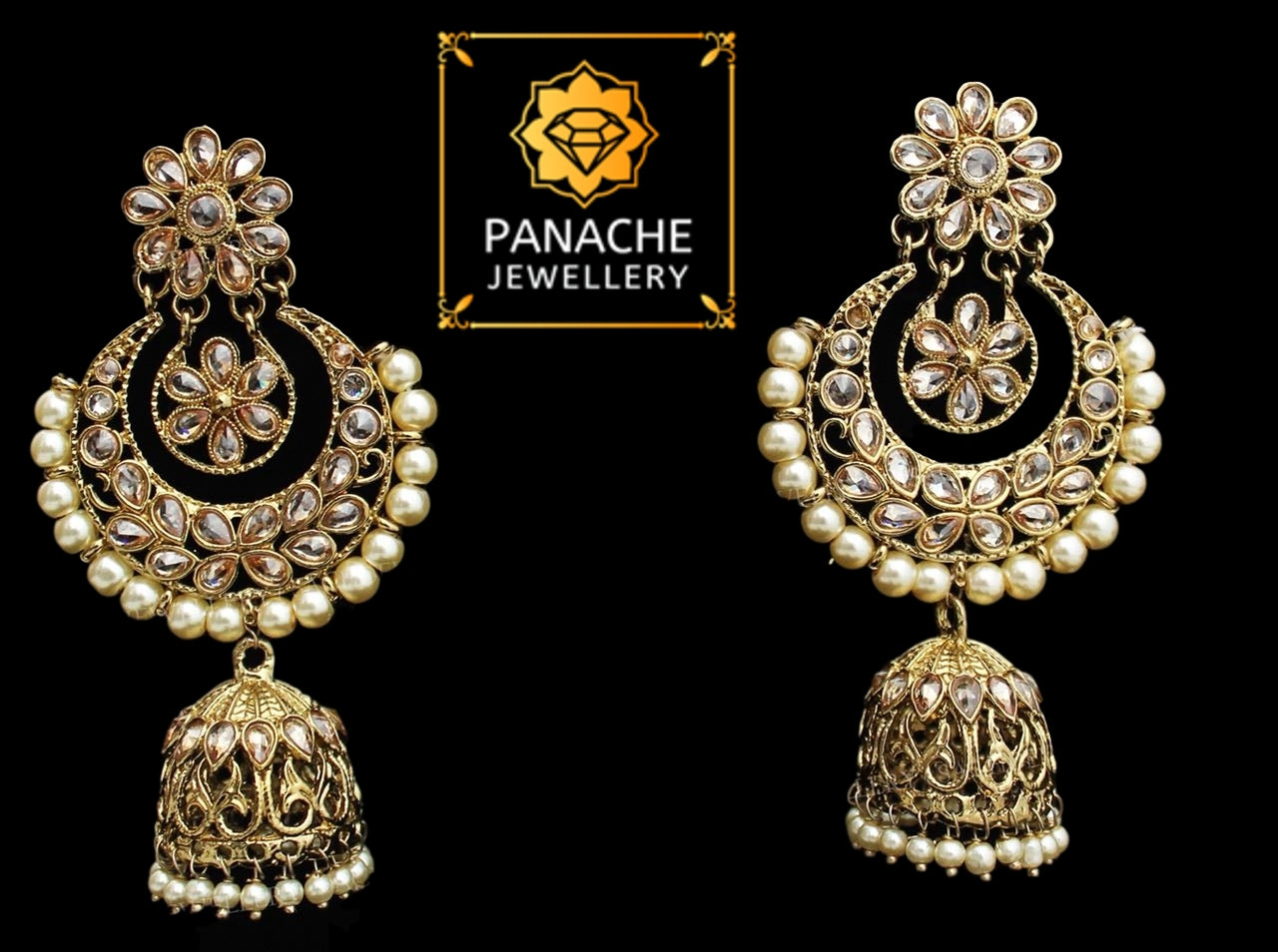Kundan and Polki High Quality Earrings