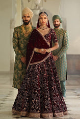 Sabyasachi Inspired Dark Burgandy Wedding Lehenga
