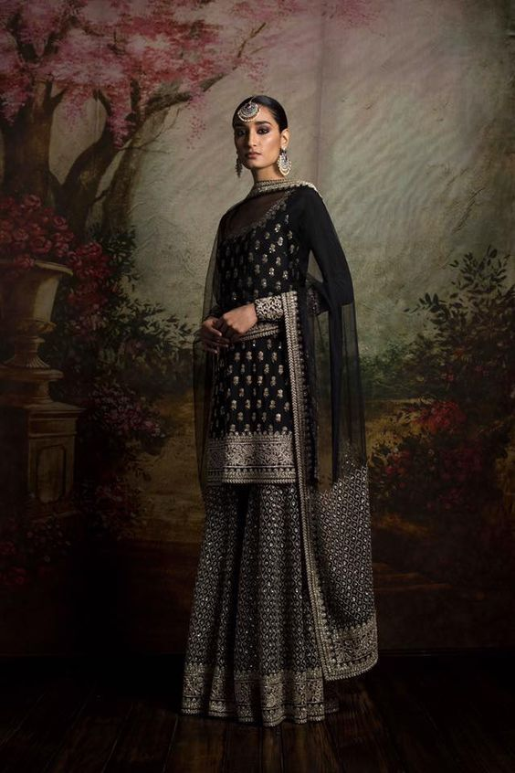 Black Color Sharara Set