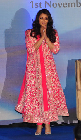 Aishwarya Rai In Pink Color Designer Suit