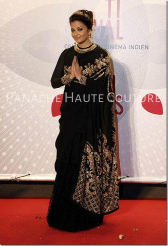Aishwarya Rai in Black color Designer Saree Online