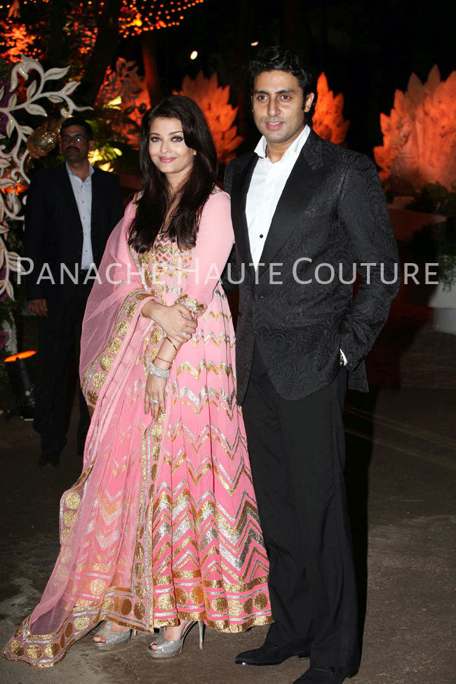 Aishwarya Rai in Pink Color Anarkali Suit Online