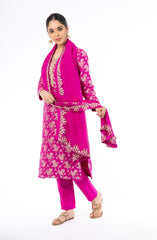 Alluring Magenta Color Palm Silk Salwar Kameez