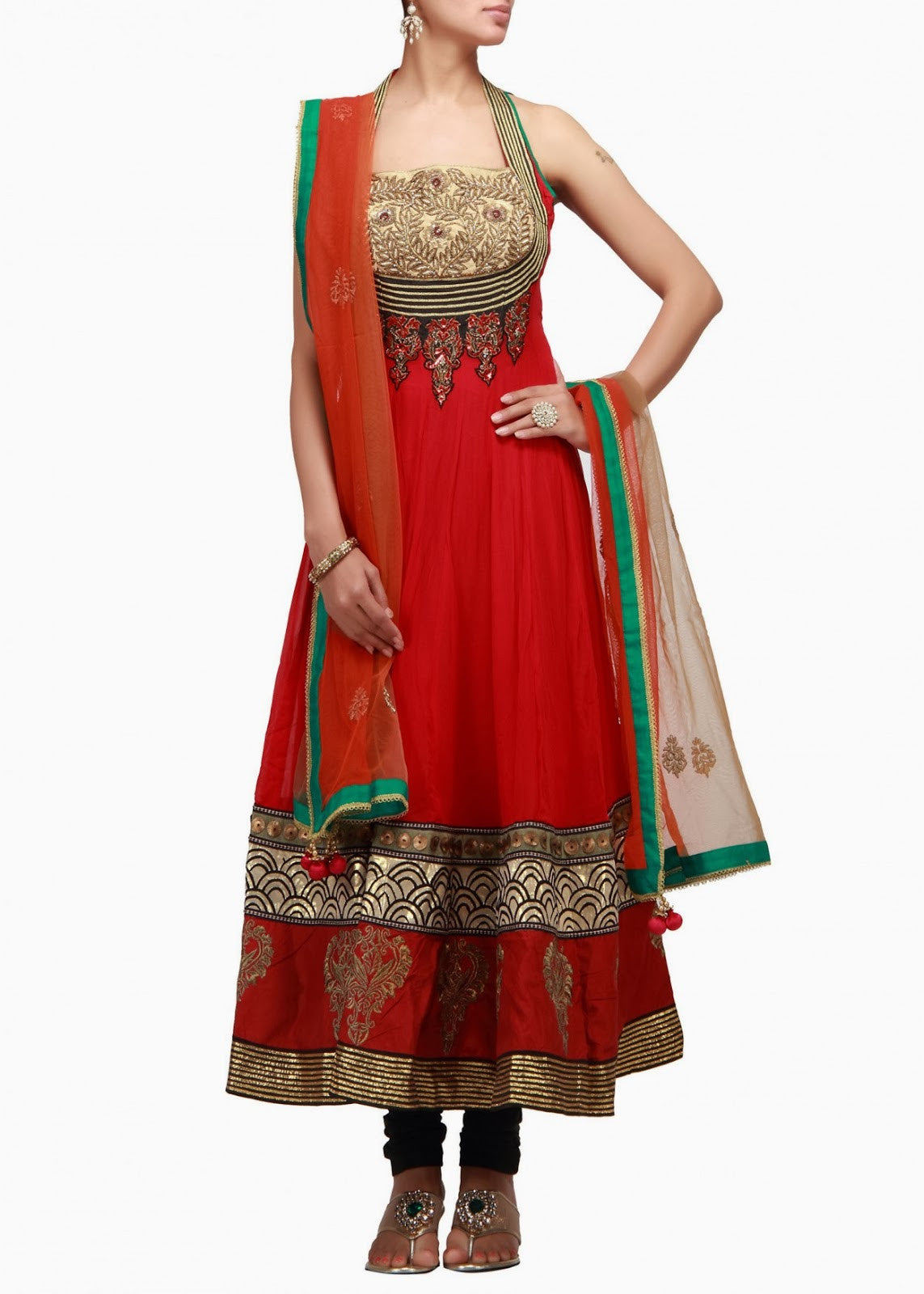 red color anarkali salwar kameez available online