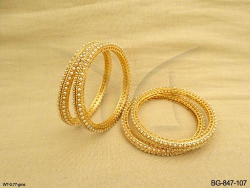 Ball Stones Antique Bangles