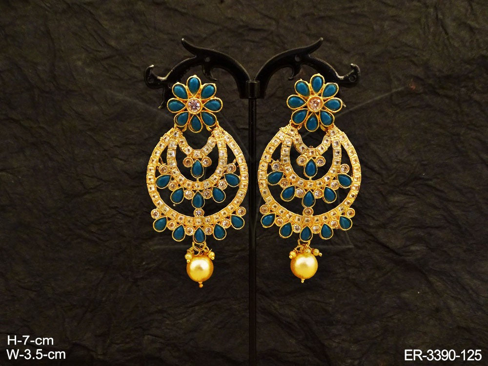 Blue Color Layered Earrings