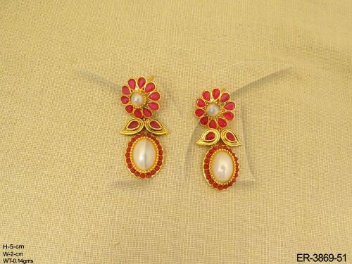 Oval Drop Antique Earrings