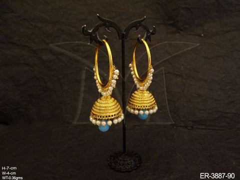 Sky Blue and Pearls Antique Baali