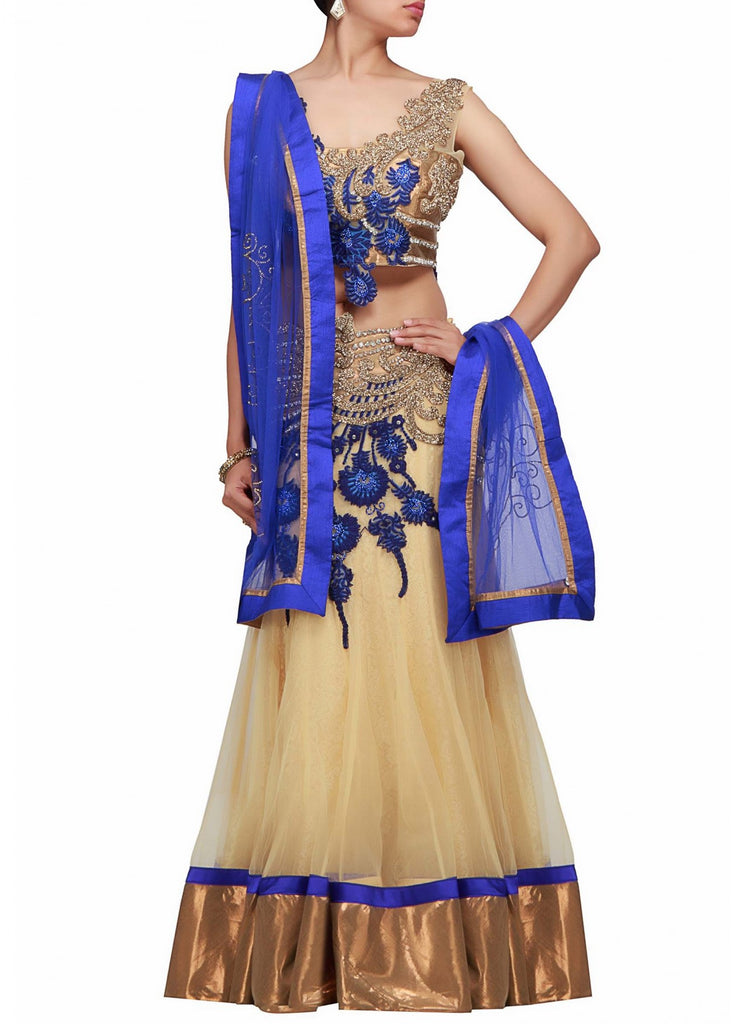 Cream color bridal lehenga choli online