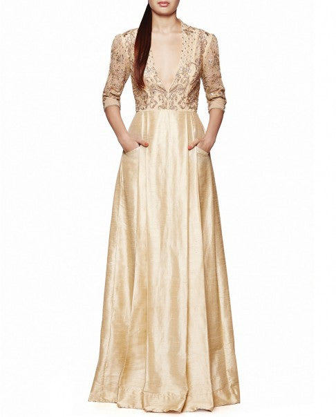 Beige Colour The Ekaja Gown