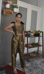 Attractive Banarasi Brocade Trouser with a Blouse