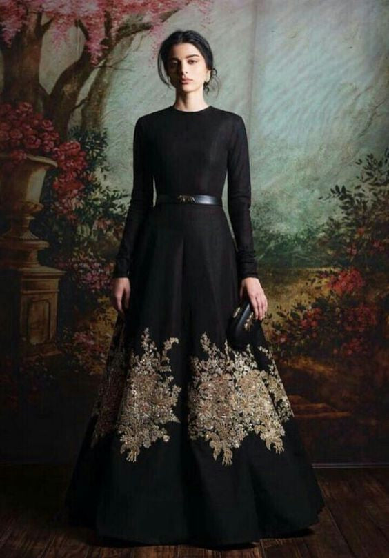 Black Color Floor Length Gown From Sabyasachi Collection