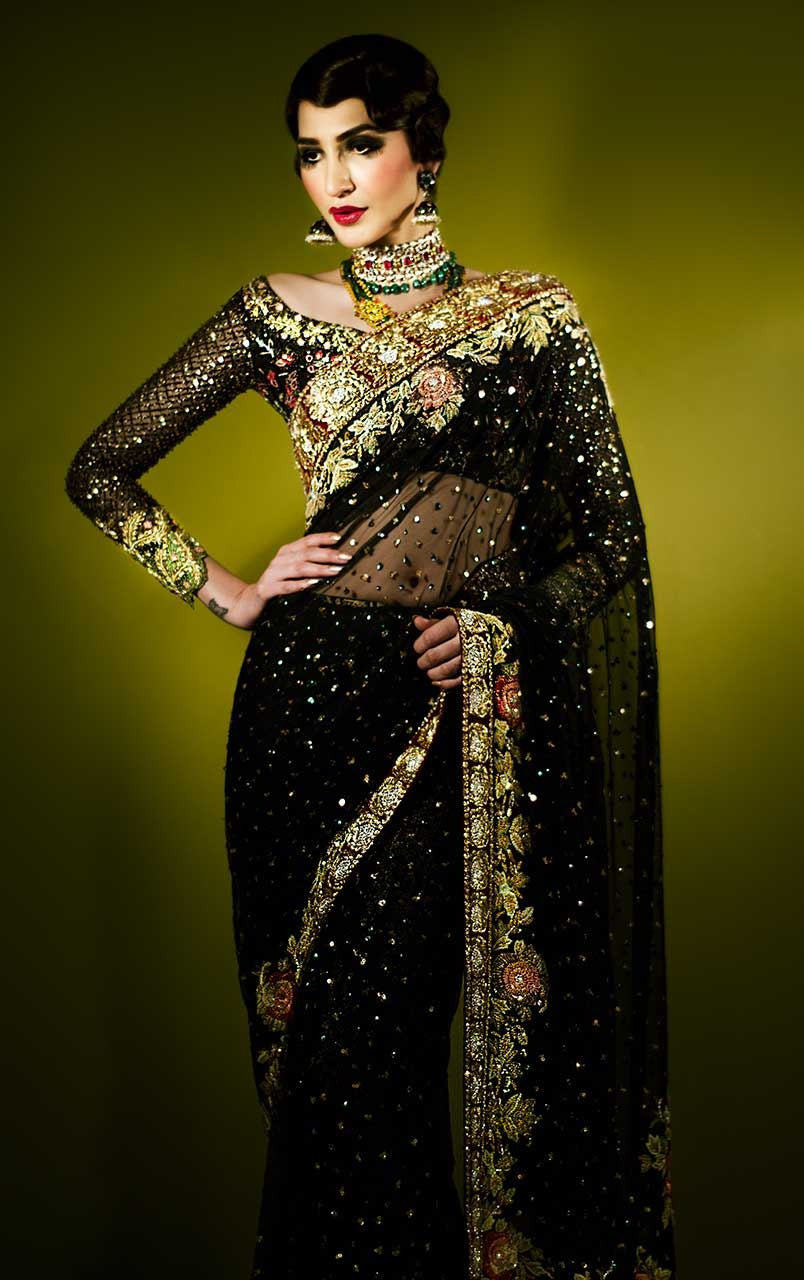 Black Color Party Wear Saree