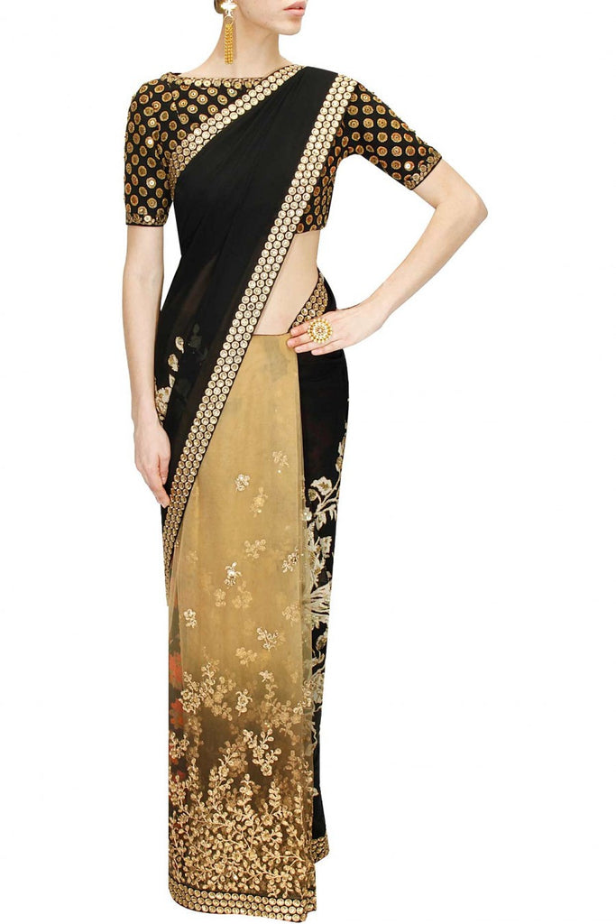 Black and Beige Sabyasachi Saree