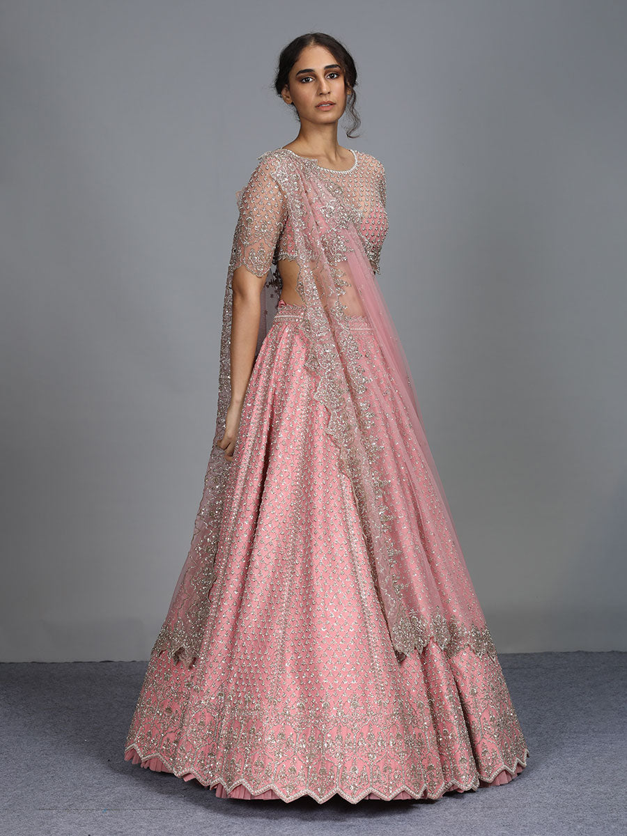 Blush Pink Color Wedding Lehenga Choli