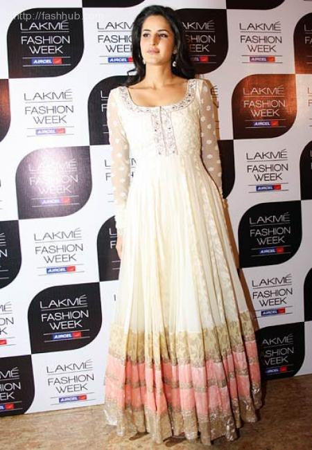 Katrina Kaif in White color anarkali suit