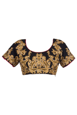Black color embroidered Blouse