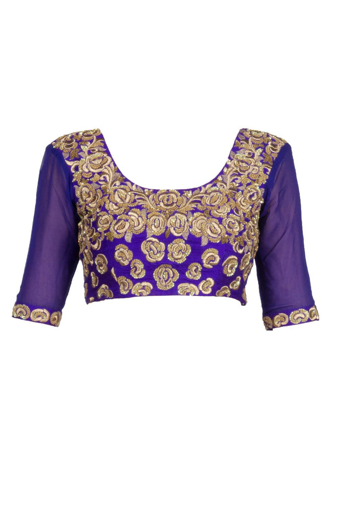 Purple colour blouse in gorgette fabric