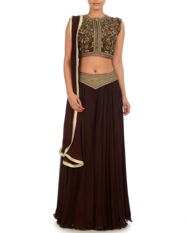 Chocolate color sharara