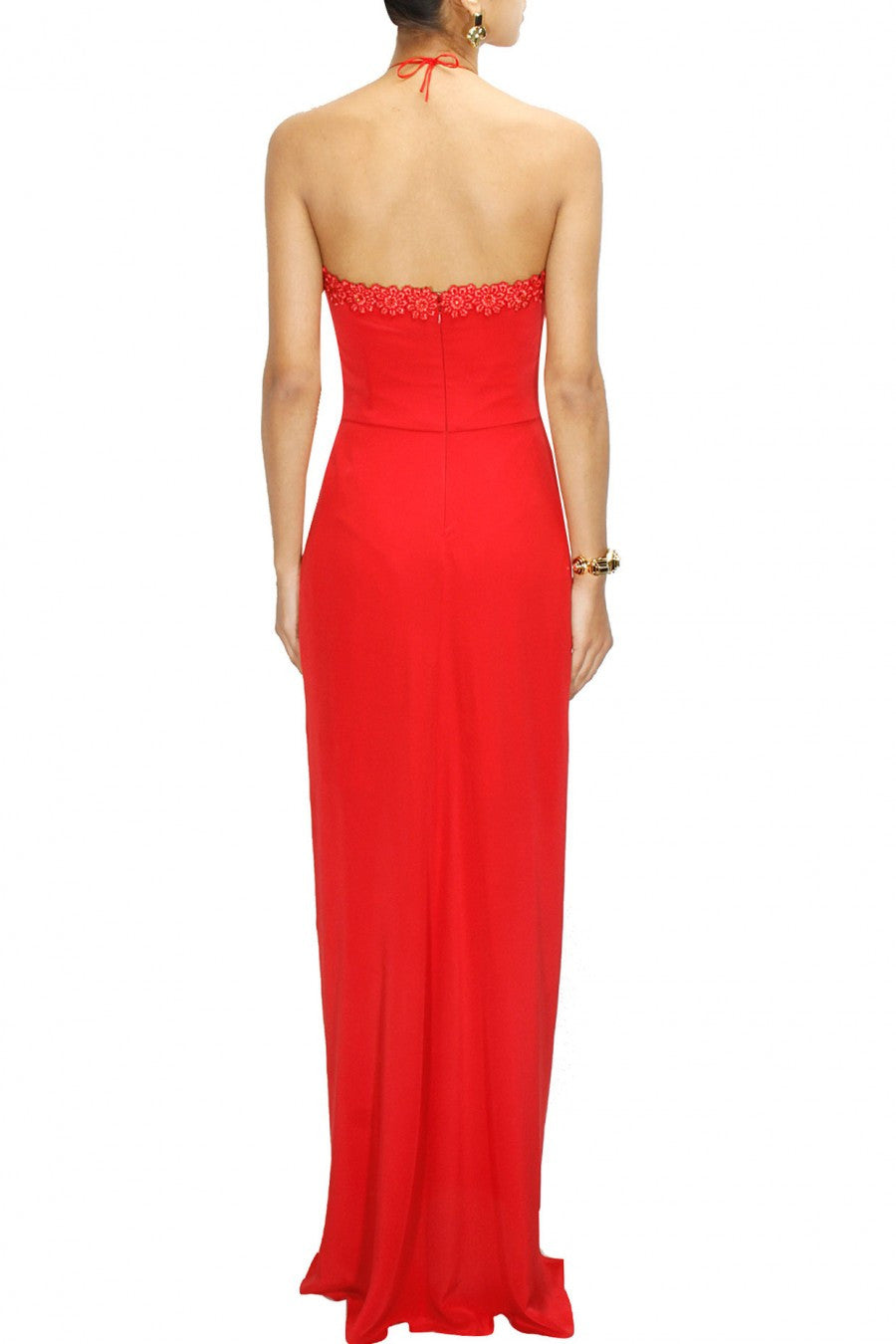 Coral Red color Gown