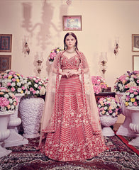 Cranberry Red Bridal Lehenga