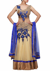 Cream color bridal lehenga choli