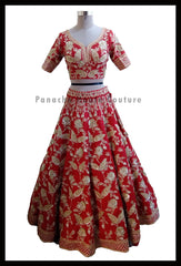 Elegant Red Color Bridal Lehenga