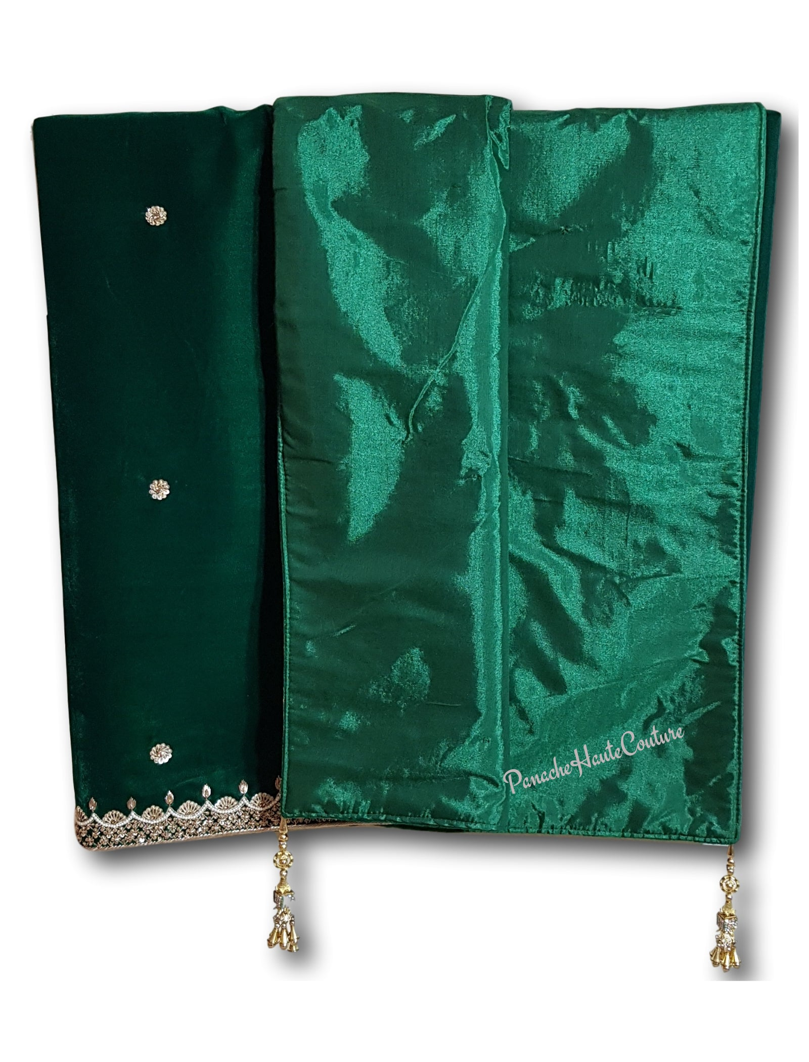 Emerald Green colour velvet shawl / Dupatta