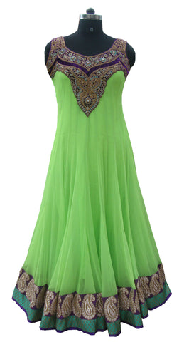 Light Green color floor length anarkali suit