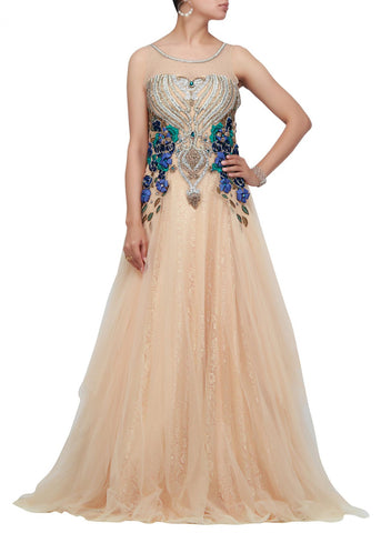 Cream color beautiful Indo-western gown