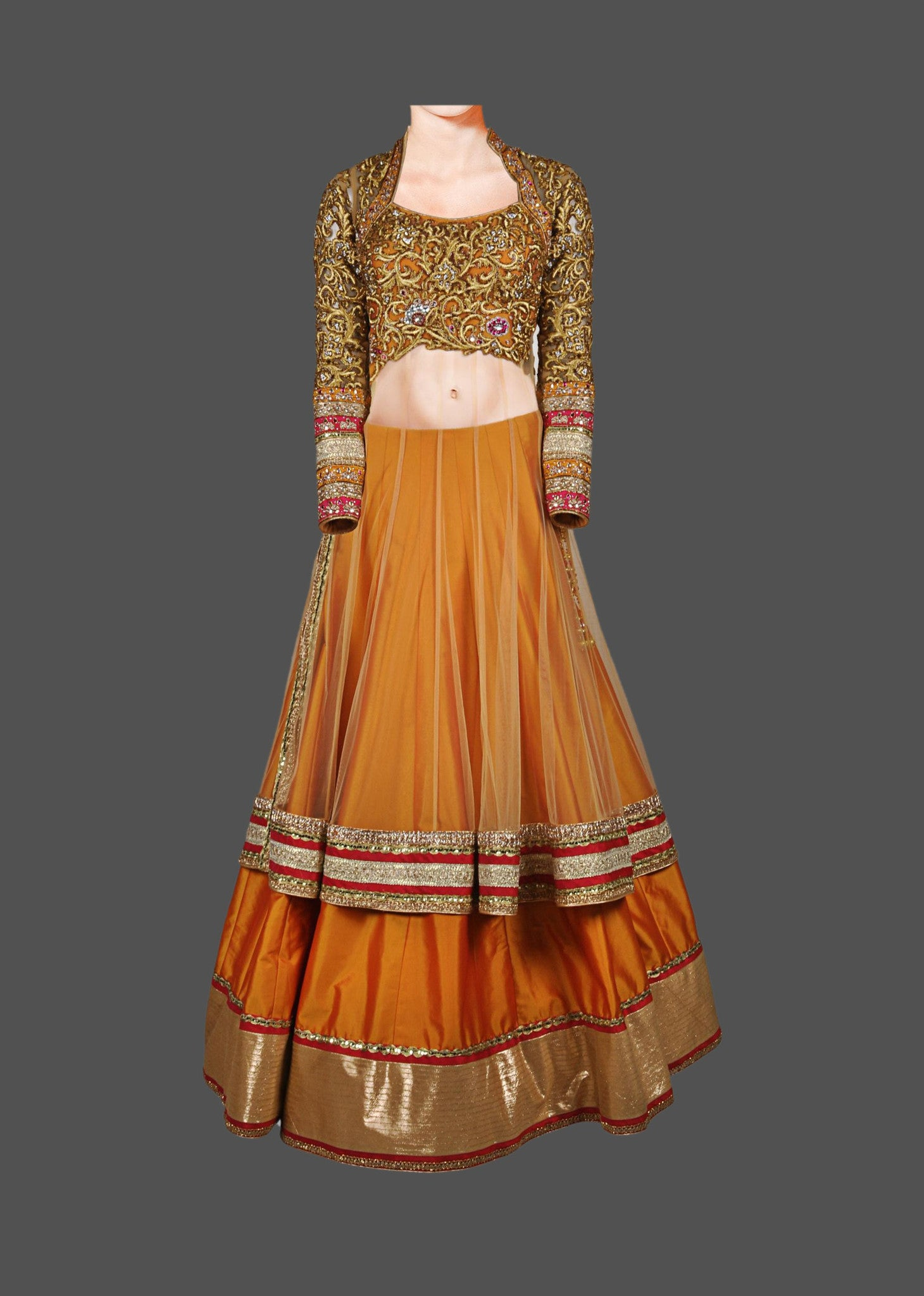 Golden color lehenga choli