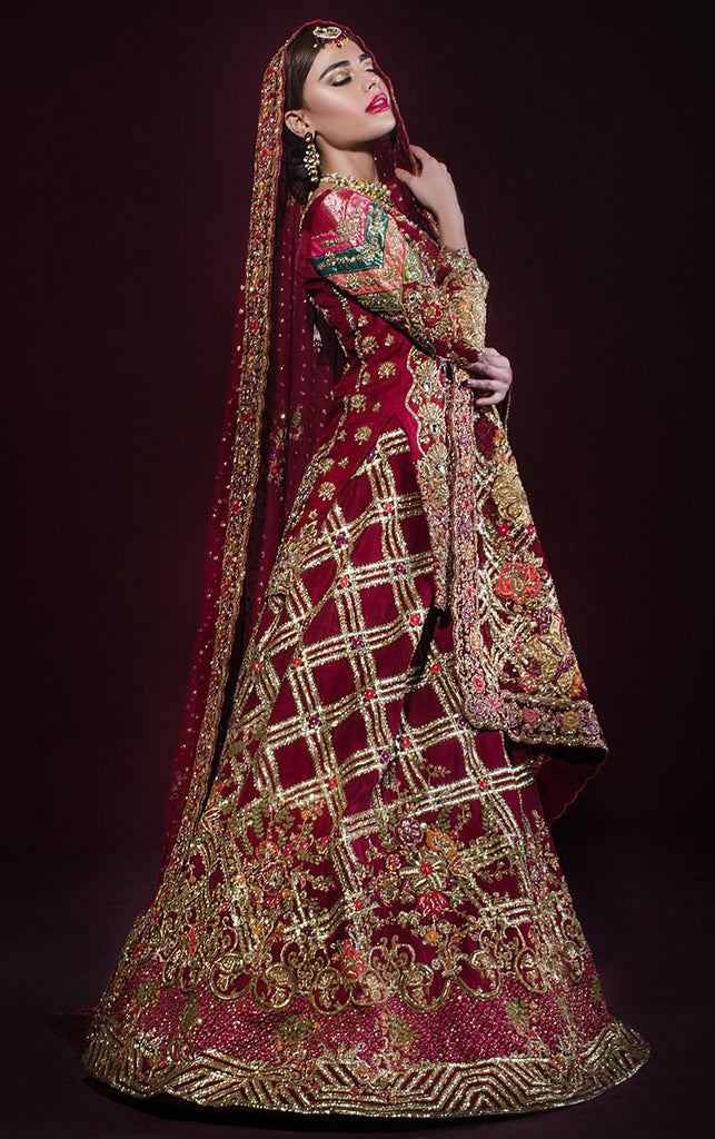Gotta and Zardozi Embroidered Bridal Lehenga