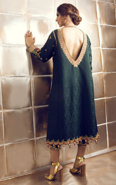 Green Color Kurti With Pakistani Pant Panache Haute Couture