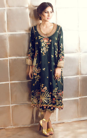 Green Color Kurti with Pakistani Pant