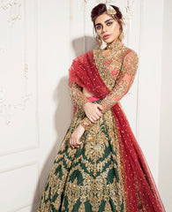 Green Color Wedding Lehenga