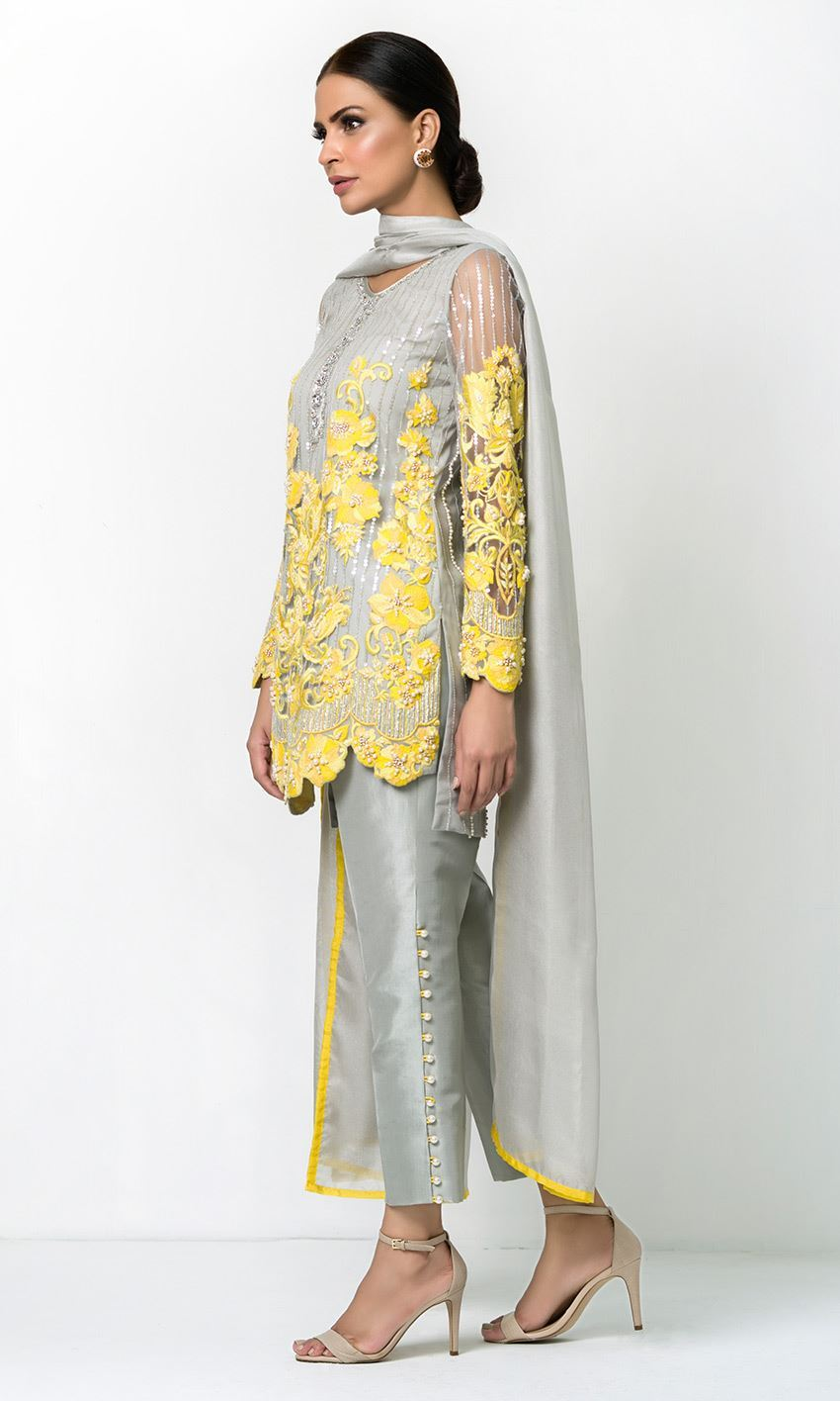 Grey Colour Designer Salwar Kameez