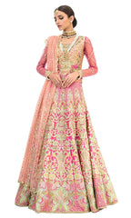 Heavily Embellished Pink Color Wedding Lehenga by Panache Haute Couture