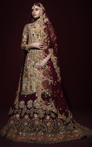 Heavily Embroidered Bridal Lehenga