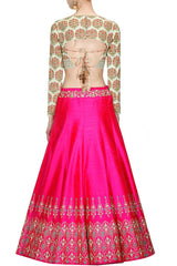 Hot Pink Wedding Lehenga Choli