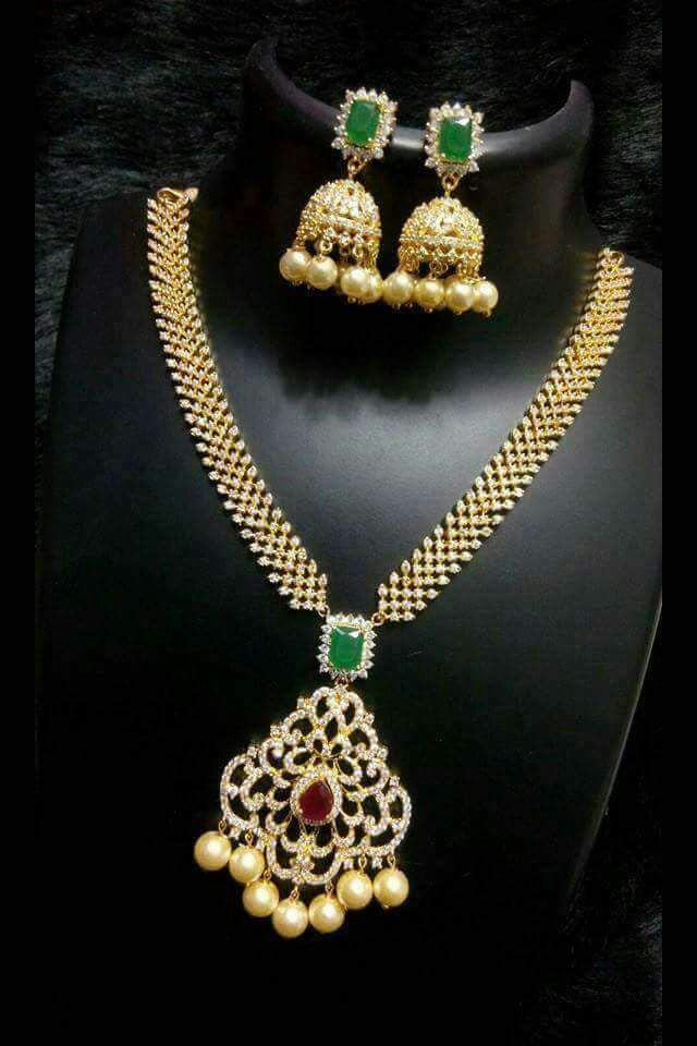 Exclusive AD Long Necklace Set